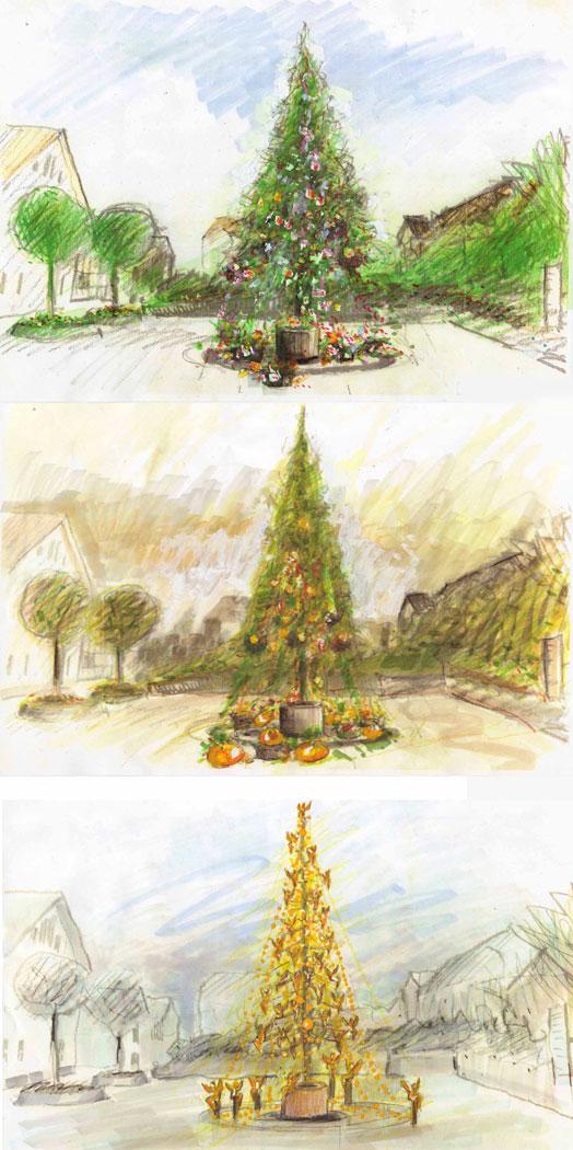Kunstweihnachtsbäume
